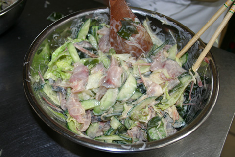 Aji Sashimi Salad