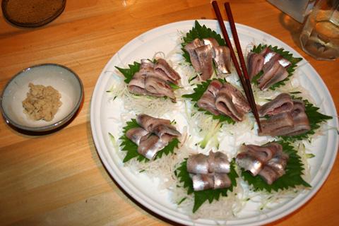 Iwashi (Sardine) Sashimi