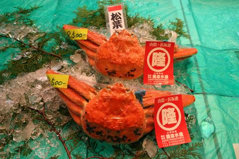 Nishiki Market matsubagani