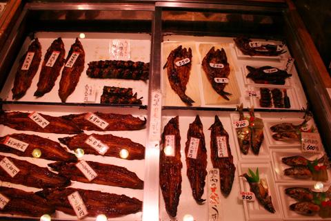 Nishiki Market unagi