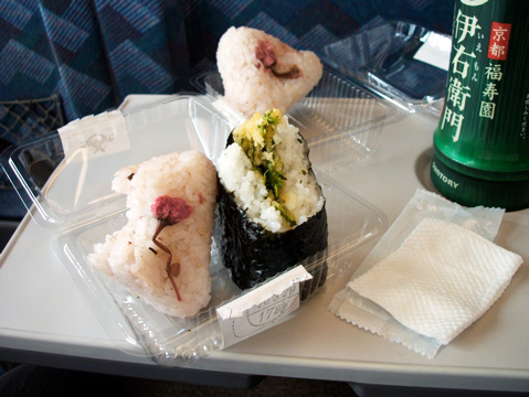 Seasonal Everything in Japan: Sakura Onigiri, Nanohana Tempura Onigiri