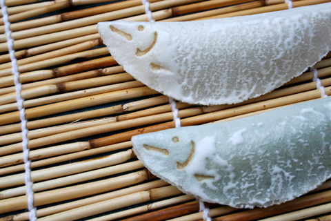 Wagashi: Ayugashi or Waka-ayu, Early Summer Sweetfish (Ayu) Shaped Confection (鮎菓子 若鮎)