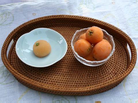 Wagashi: Early Summer Loquat (Biwa) Namagashi 枇杷(びわ)生菓子