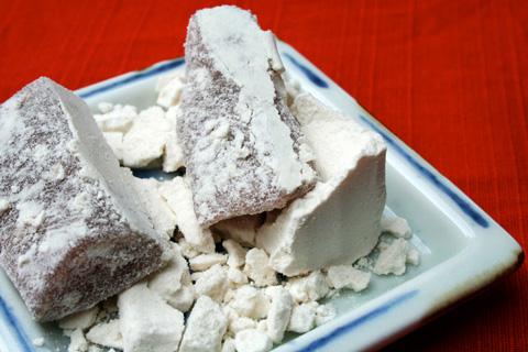 Wagashi: Wasanbon Sugar Sesame Mochi