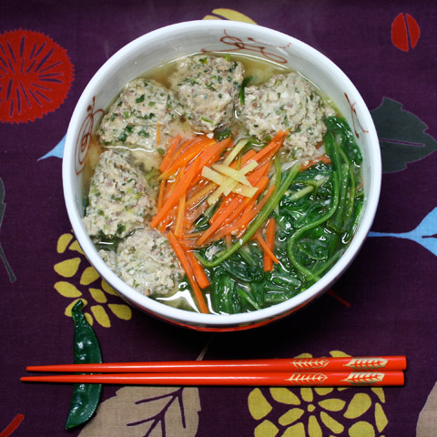 Sardine 'Meatballs': Iwashi Tsumire Iri Miso Udon いわしのつみれ入り 味噌うどん