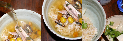 Roasted Ginnan and Sardine Ichiya Boshi Chazuke