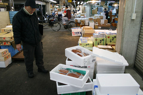 Japanese New Year's Osechi Ryori: Shopping for Fish at Kyoto Wholesale Food Market with Kichisen Owner Yoshimi Tanigawa 京都吉泉・谷河吉巳 おせち料理 京都市中央卸売市場