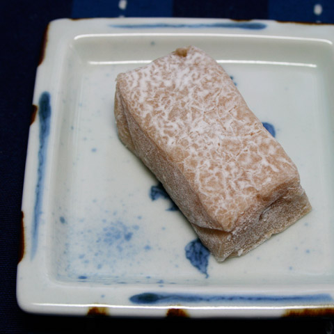Wagashi: Walnut Gyuhi Mochi with Cinnamon  百万遍かぎや 益寿糖
