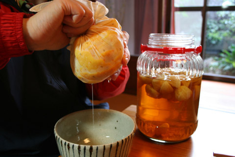 How to Make Yuzushu (Japanese Citrus Yuzu Liqueur) ゆず酒