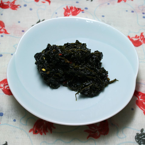 Kyotona Pepper Greens and Wagyu Tsukudani  京唐菜佃煮