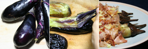 Pungent and Smoky Grilled Japanese Eggplant 'Yakinasu'