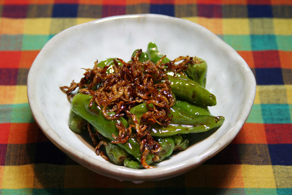 Home Cooking: Shishito Peppers and Jako Itameni Simmered in Soy Sauce
