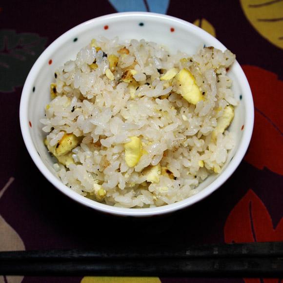Donabe Yakiguri Gohan (Roasted Chestnut Rice)  焼き栗ご飯