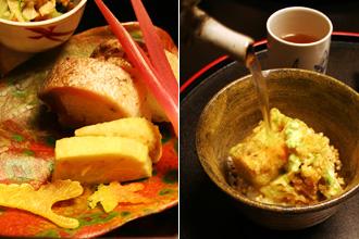Dinner at Yoshikawa Ryokan: Tempura Kakiage O-chazuke