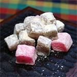 Wagashi: Miso Flavored Chigiri Mochi in Wasanbon Sugar