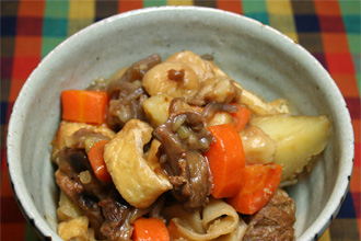 KyotoFoodie-style Nikujaga Wagyu Tendon Beef Stew Recipe