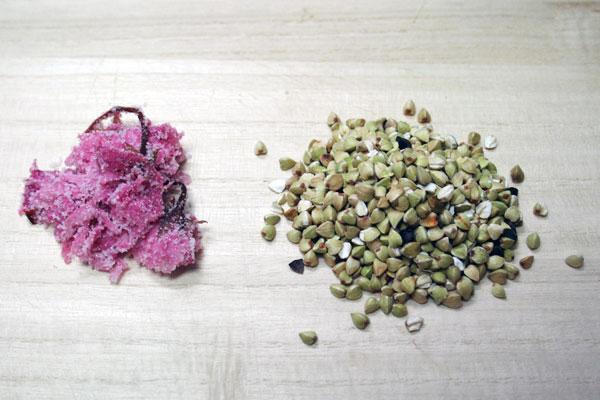 Shiozakura Dashi Taki Soba Gohan Kumiage Yuba Donburi 桜の塩漬け出汁炊きそばご飯汲み上げ湯葉丼