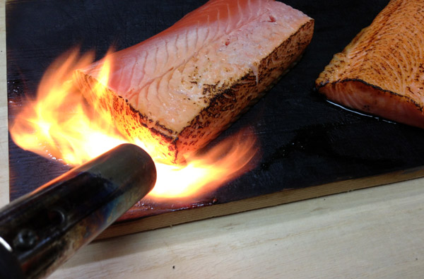 Searing Salmon Sashimi