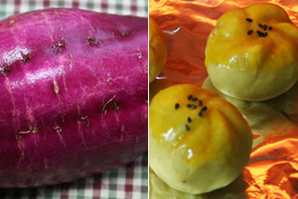 Kyoto-style Chakin Shibori Sweet Potato with Cinnamon
