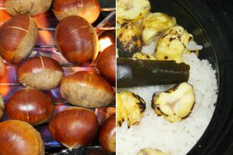 Donabe Yaki-kuri Gohan (Roasted Chestnut Rice)